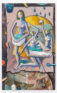 Marlene Steyn | wc: double you sea | 2019 | Oil on Canvas | 105 x 65 cm