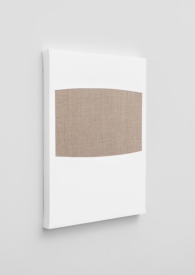 Pierre Vermeulen | Gesso Space nr 5 (Side View) | 2020 | Gesso on Belgian Linen | 50 x 40 cm