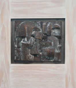 Edoardo Villa | (Abstract) | 1964 | Bronze Relief | 18 x 16 cm