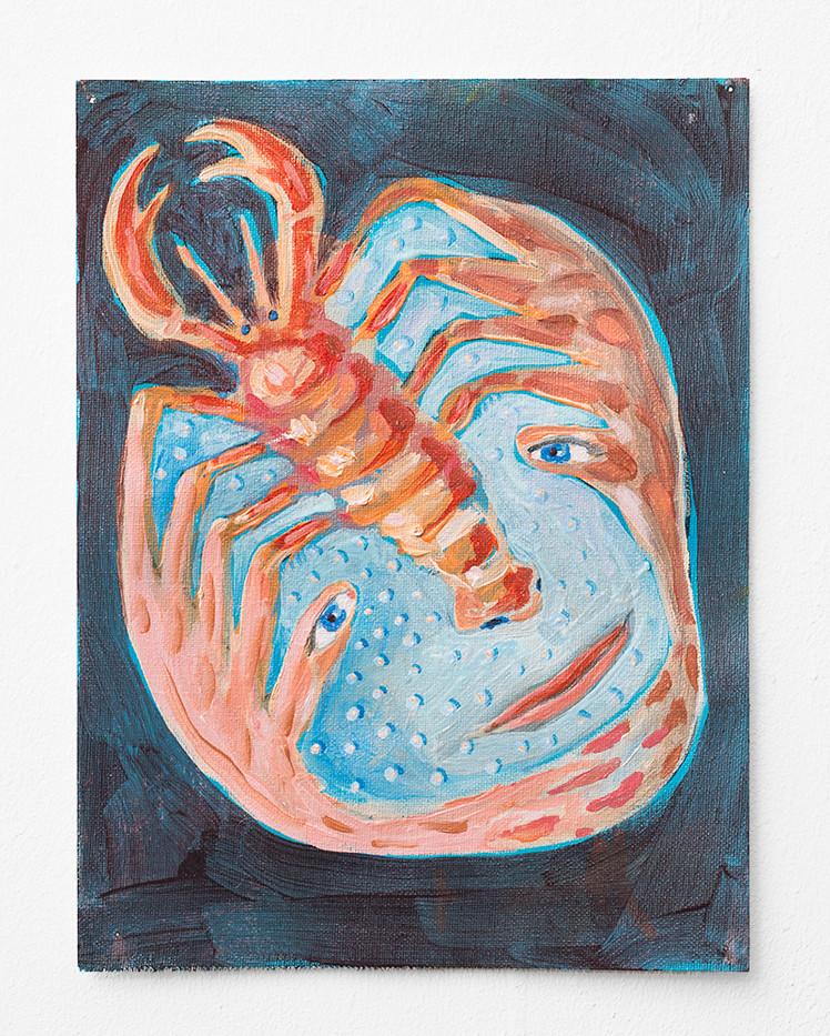 Marlene Steyn | sea side burns | 2018 | Oil on Canvas | 30.5 x 22.5 cm