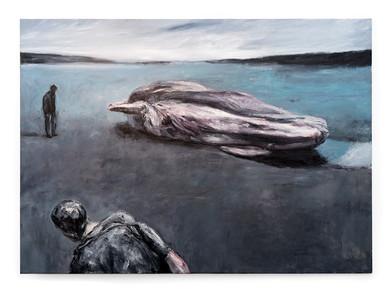 Johann Louw | Goeiendag Monsiuer Courbet, op Jakobsbaai | 2018-2019 | Oil on Canvas | 193 x 284 cm