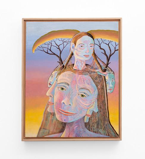 Marlene Steyn   skin-deeper towards a deep her   2020   Oil on Canvas Board   50 x 40 cm