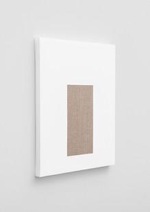 Pierre Vermeulen | Gesso Space nr 3 (Side View) | 2020 | Gesso on Belgian Linen | 50 x 40 cm