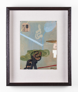 Simon Stone | Green Thought | 2017 | Oil on Cardboard | 30 x 22.5 cm