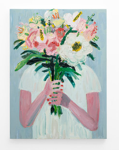 Georgina Gratrix | In Hiding | 2018 | Oil on Canvas | 120 x 90 cm
