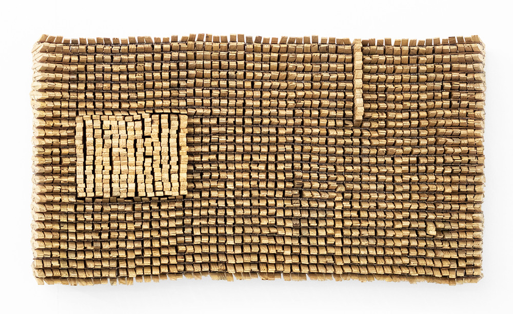 Usha Seejarim | A Note | 2019 | Pegs and Wire | 34.5 x 61 x 7 cm