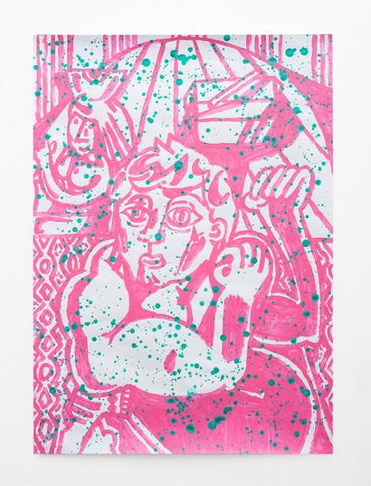 Callan Grecia   Strong Man 8   2021   Acrylic on Bristol   84 x 59.9 cm