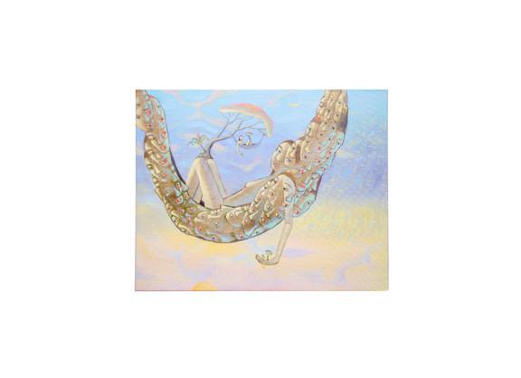 Marlene Steyn | i so lay chins | 2020 | Acrylic on Canvas Board | 40.5 x 51 cm