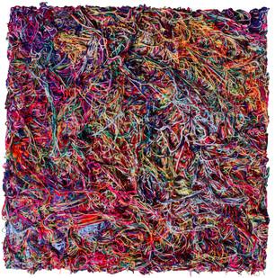Barend de Wet | Beyond the Colour Line IV | 2012 | 100% Acrylic Wool on Board | 124 x 122 cm