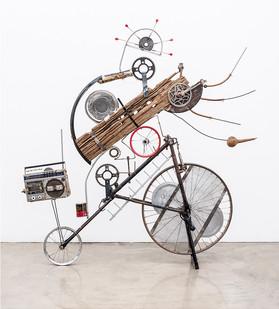Cyrus Kabiru | Mziki (Music) | 2018 | Steel and Found Objects | 172 x 169 x 37 cm
