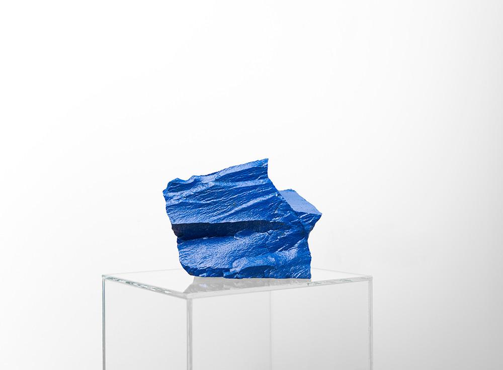 Ruann Coleman   Study IX (Potagoras)   2017   Painted Pakhuis Diamictite   13 x 14 x 13 cm