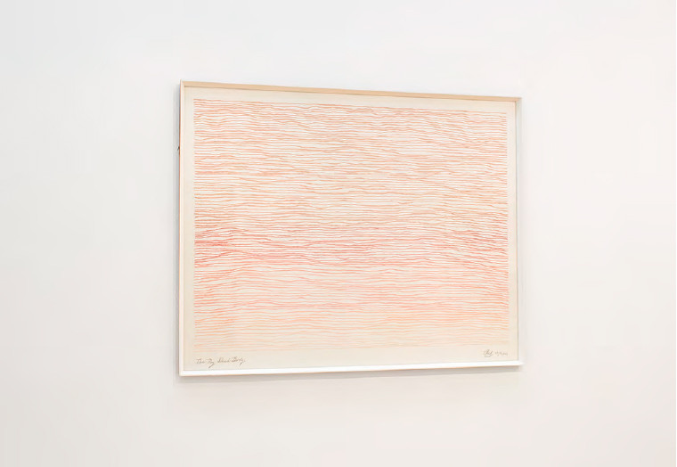 Olivie Keck | Over My Dead Body | 2014 | Coloured Embroidery Thread on Linen | 47 x 120 cm