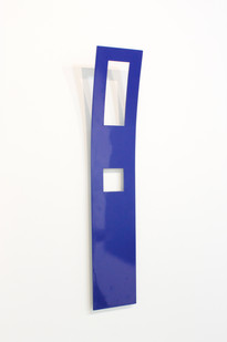 Helen A Pritchard | Untitled - Carrier 35 (Side View) | 2013 | Steel and Enamel Paint | 68 x 13 cm
