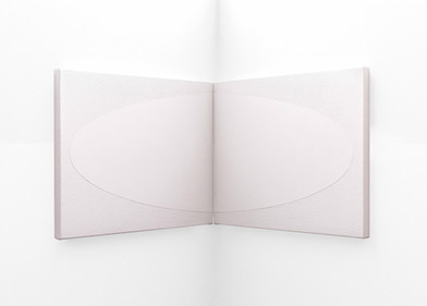 Pierre Vermeulen | White Eclipse Corner Piece | 2020 | Gesso on Belgian Linen | 40 x 50 cm Each