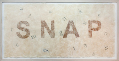 Willem Boshoff   Snap   2011   Handmade Milkweed Paper   110 x 230 cm