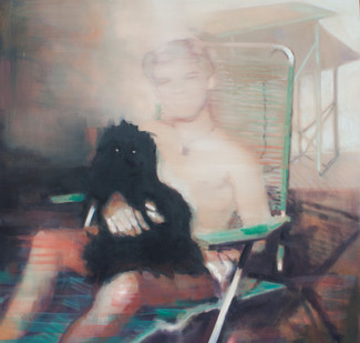 Kate Gottgens | Boy in the sun | 2013 | Oil on Canvas | 105 x 105 cm