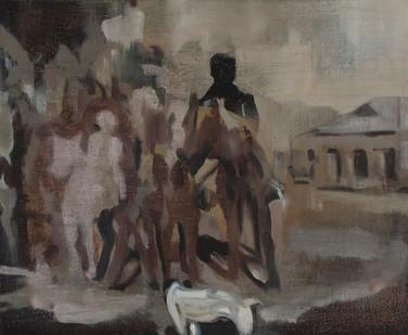 Kate Gottgens | Riders | 2014 | Oil on Canvas | 45.5 x 55.5 cm