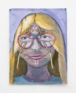 Marlene Steyn   Her intern in her   2018   Oil on Canvas   30.5 x 22.5 cm