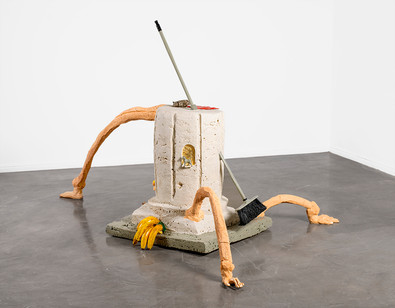 Katharien de Villiers | Calling All Gods | 2020 | Polyurethane, Enamel, Found Objects and Clay | 126 x 235 x 148 cm