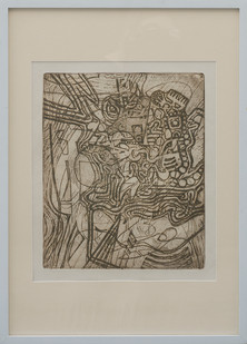 Kevin Atkinson | Abstract Composition (Light) | c. 1965 | Etching | 35 x 29.5 cm