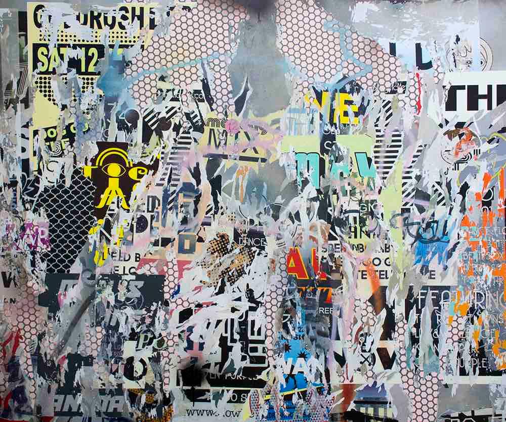Asha Zero | TEL | 2015 | Acrylic on Board | 100.5 x 120 cm