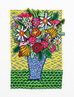 Jody Paulsen | Colourful | 2018 | Felt Collage | 97 x 64 cm