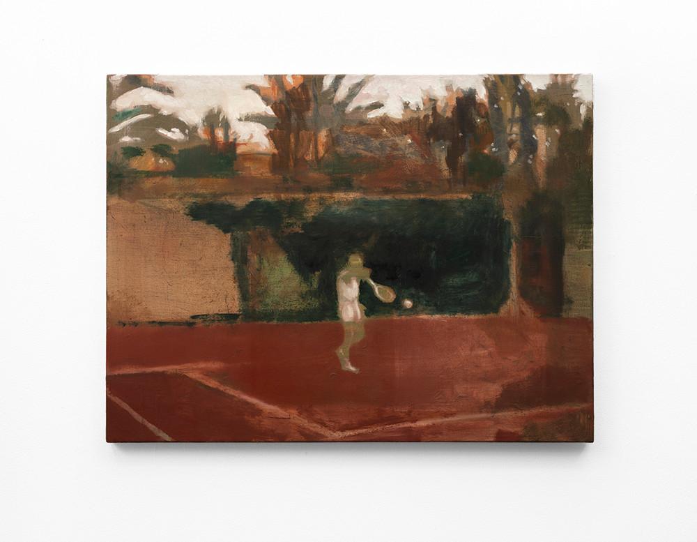 Kate Gottgens | Lonely Tennis Player | 2020 | Oil on Canvas | 68 x 90 cm