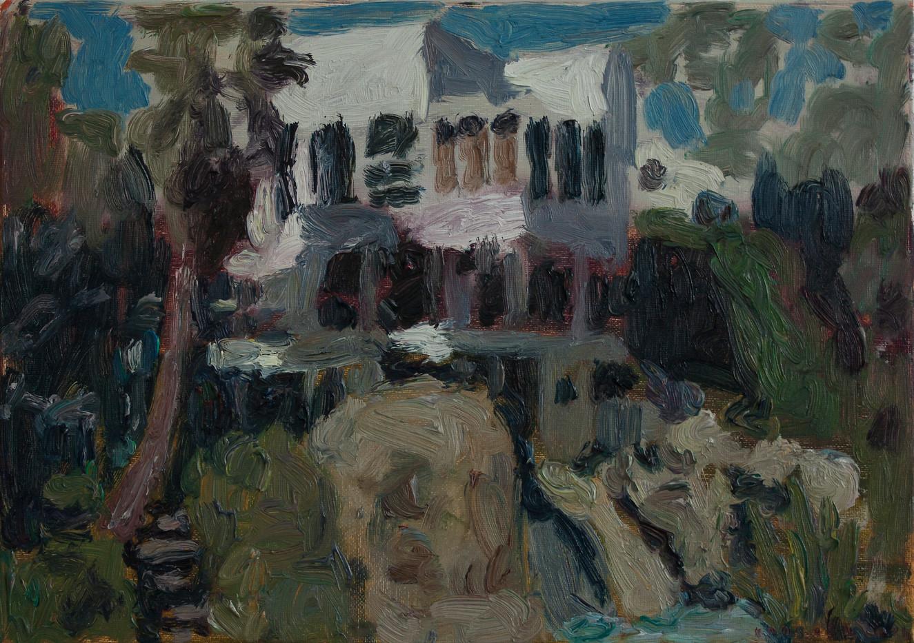 Anton Karstel | Property (Bantry Bay) | 2014 | Oil on Canvas | 29.5 x 42 cm