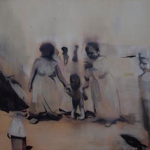 Kate Gottgens | Shadow Baby | 2015 | Oil on Canvas | 90 x 90 cm
