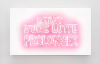 Marinella Senatore | Debut D'une Lutte Prolongee | 2019 | Neon | 95 x 176 cm | Edition of 5