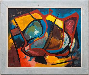 Albert Newall | Untitled | 1957 | Oil on Canvas | 53 x 65 cm