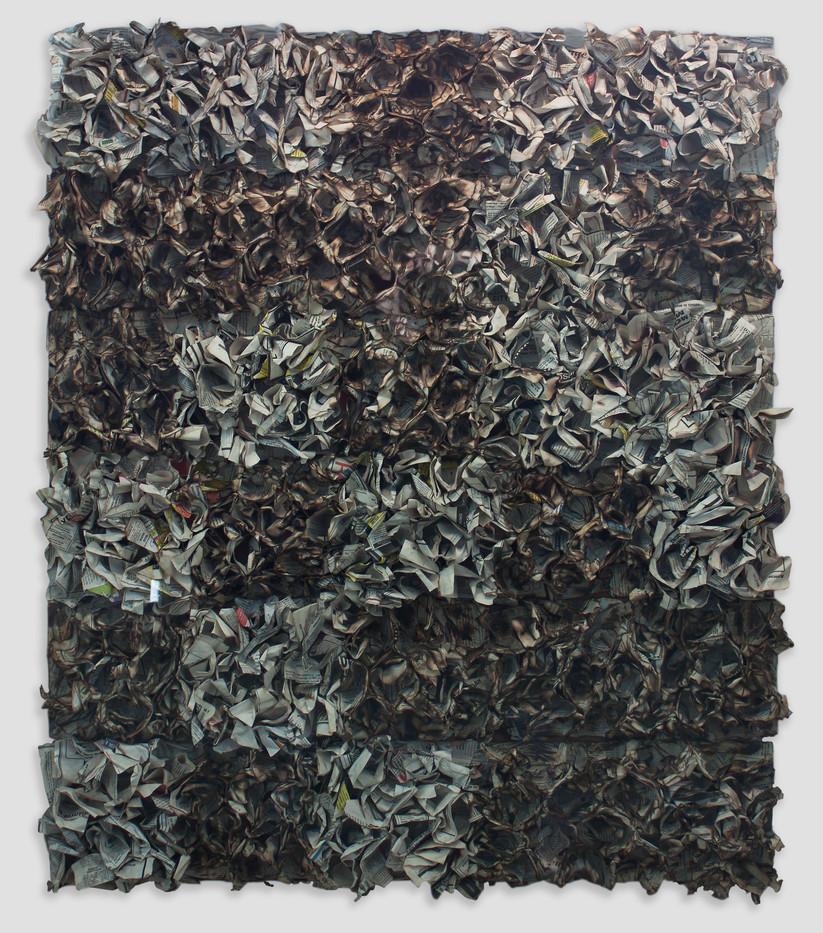 Sandile Zulu | Untitled | 2015 | Fire and Paper on Board | 105 x 85 cm