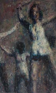Anton Karstel | /1939-Glaube-und-Schoenheit (II) | 2014 | Oil on Canvas | 180 x 110 cm