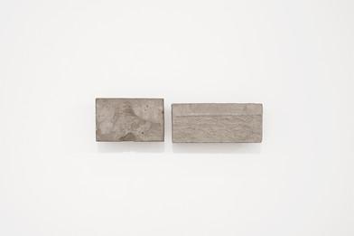 Ledelle Moe | Relief I & II | 2016 | Concrete and Steel | 13 x 20 x 3.5 cm & 12 x 27 x 4 cm