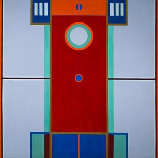 Hannatjie van der Wat   Pendulum   1968   Oil on Canvas   152 x 152 cm