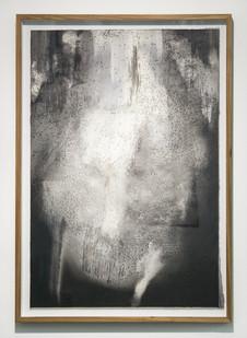 Alexandra Karakashian | Achromatic III | 2017 | Oil and Salt on Sized Paper | 91 x 63 cm