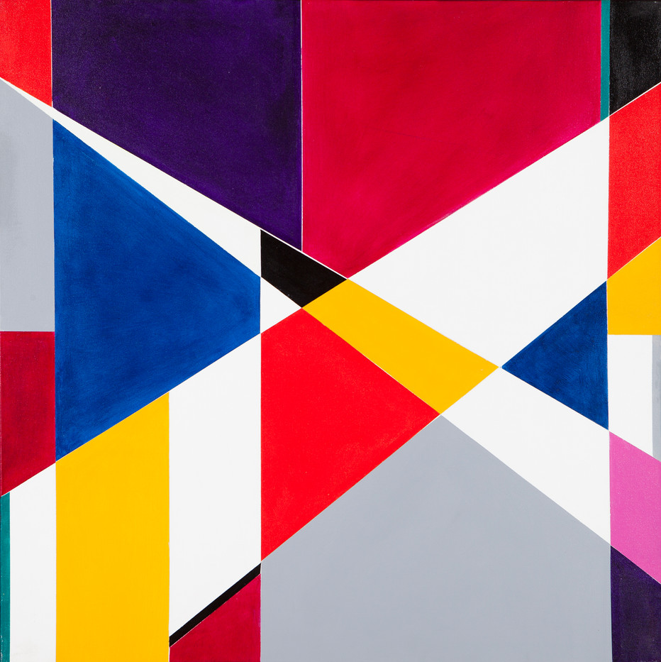Hannatjie van der Wat | Mix and Match | 2003 | Liquitex on Canvas | Modular Series of Four | 91.5 x 91.5 cm