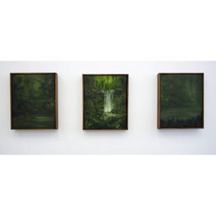 Jake Aikman | Upstream | 2015 | Oil on Canvas | 25 x 19.5 cm Each