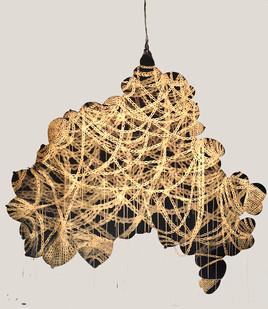 Shoshanna Weinberger | Ménage à Trois | 2013 | Gouache on Paper | 183.5 x 152.4 cm