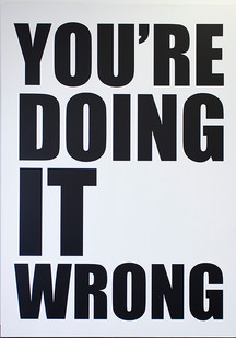 Ed Young | You're Doing It Wrong | 2015 | Oil on Canvas | 250 x 170 cm | Edition of 3 + 1 AP