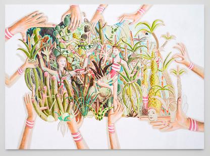 Marlene Steyn | Aloe Vera Manic Cure | 2018 | Oil on Canvas | 170 x 240 cm