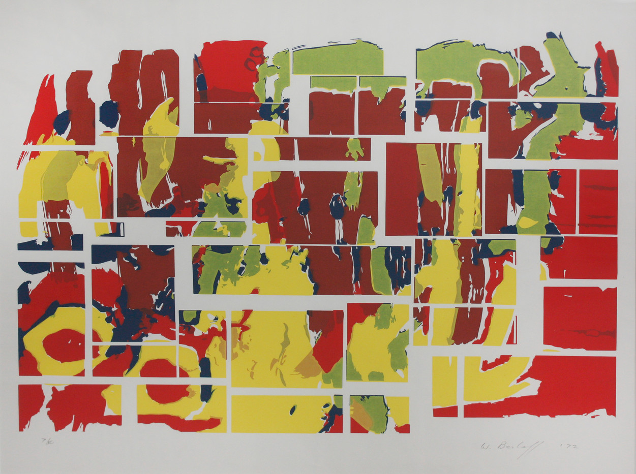 Willem Boshoff | Untitled | 1972 | Silkscreen Print on Paper | 52 x 58 cm