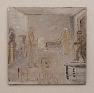 Simon Stone   Father's Quiet Interior   2016   Oil on Cardboard   28,5 x 28,5 cm
