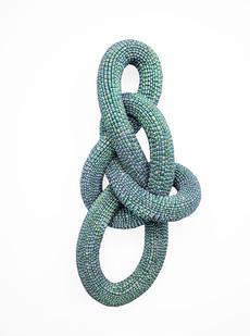 Frances Goodman | Mermade | 2020 | Acrylic Nails, Foam, Resin and Silicone Glue | 110 x 50 x 28 cm