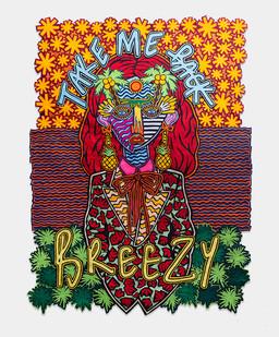 Jody Paulsen | Breezy | 2017 | Felt Collage | 200 x 150 cm