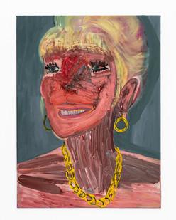 Georgina Gratrix | Filler Face | 2020 | Oil on Canvas | 120 x 90 cm