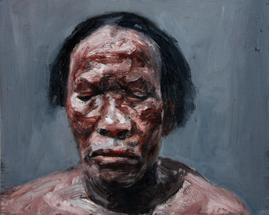 Johann Louw | Portret A II | 2012 | Oil on Plywood | 41 x 51.5 cm