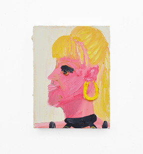Georgina Gratrix | Donatella | 2018 | Oil on Canvas | 40 x 30 cm