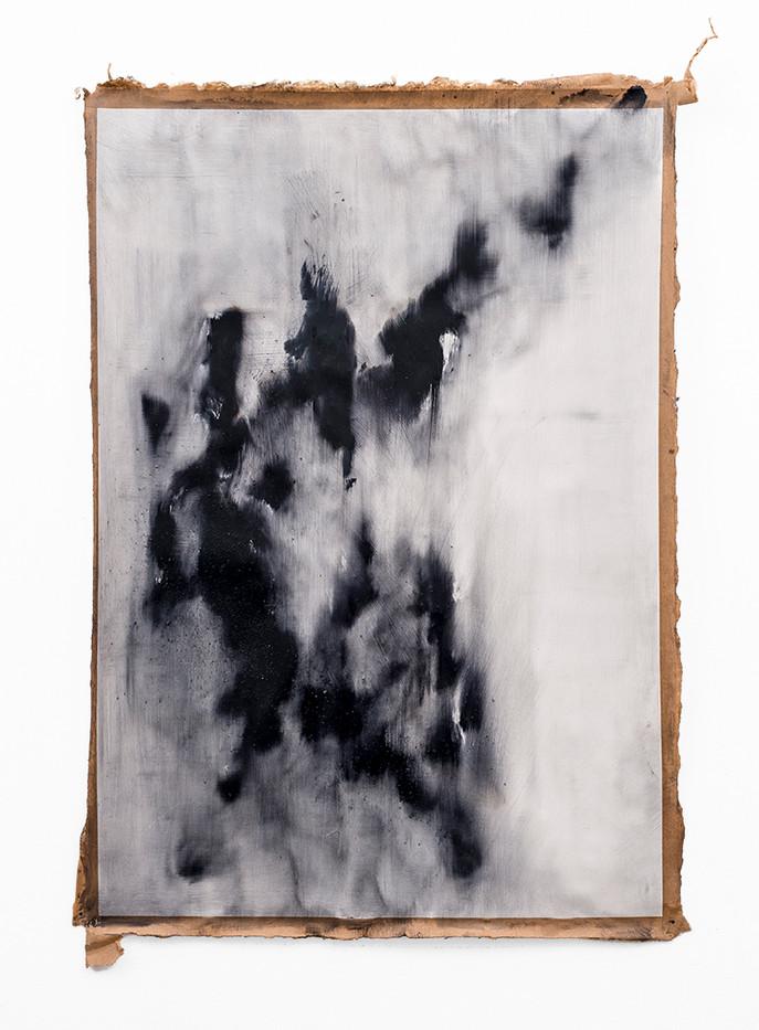 Alexandra Karakashian | Symptom 'Sketch' I | 2019 | Oil on Sized Paper | 100 x 70 cm