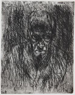 Johann Louw | Klein Selfportret | 2006 | Etching | 18 x 15 cm